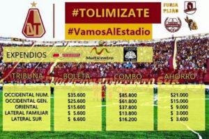 Imagen tomada de la cuenta oficial del Club Deportes Tolima