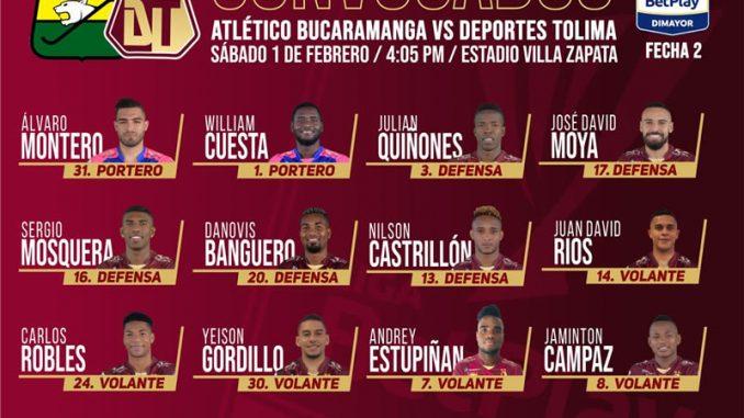 deportes tolima bucaramanga